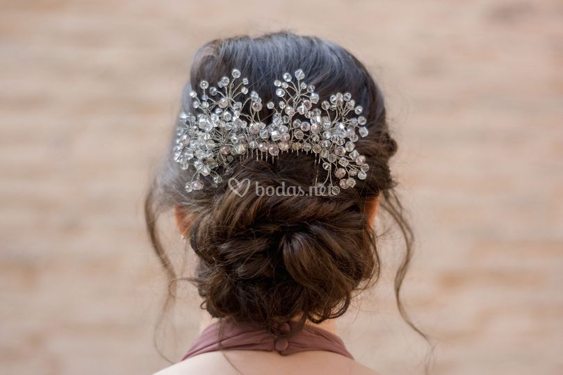 Silver Bridal Peineta