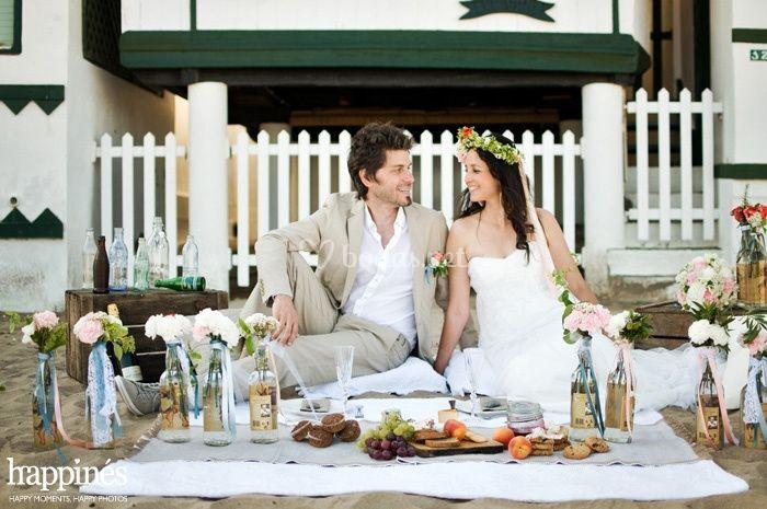 Una sesión de boda a orillas del mar por Happinés