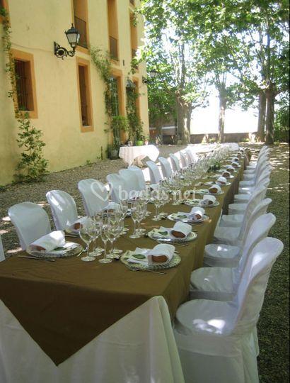 Jardín para banquetes