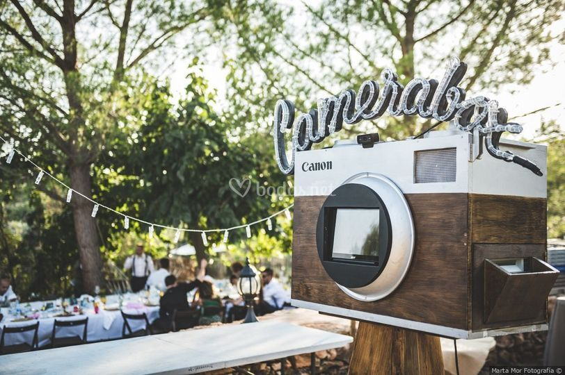 Fotomatón de  madera vintage