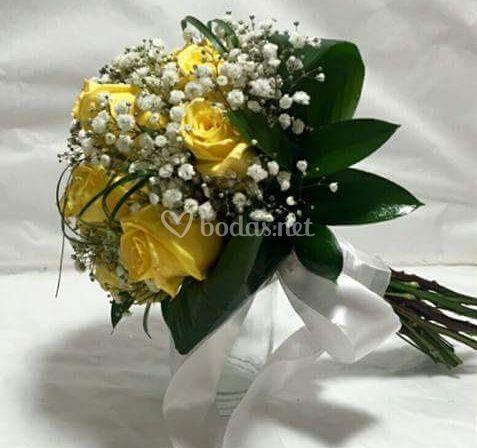 Bouquet rosa amarilla