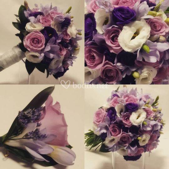 Bouquet morado