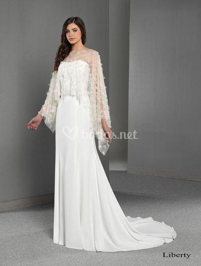 Vestido de novia Liberty