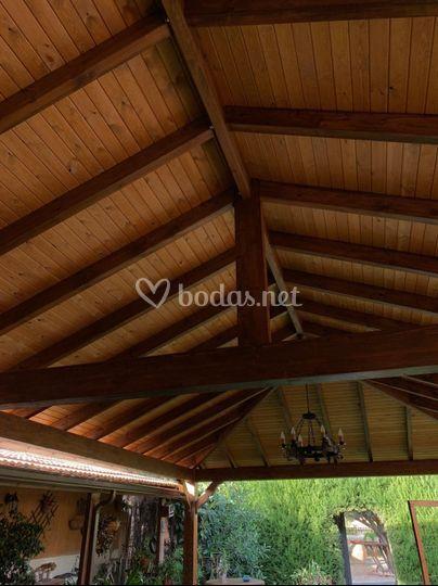 Terraza exterior techada