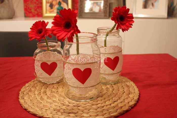 Centros de mesa para una boda en san valent n for Decoracion san valentin pinterest