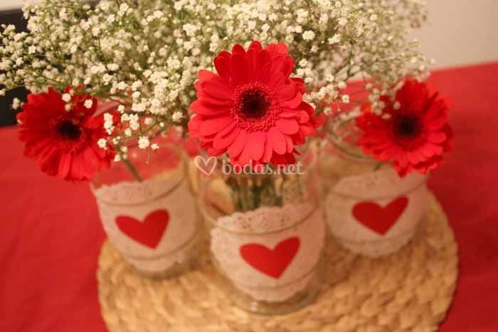 Centerpieces for a wedding on Valentine 39s day