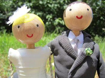 Figuras de novios personalizadas para la tarta