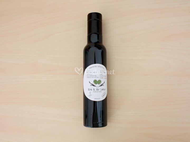 Diseño etiqueta botella regalo