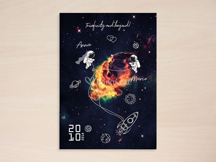 Diseño invitación Galaxia