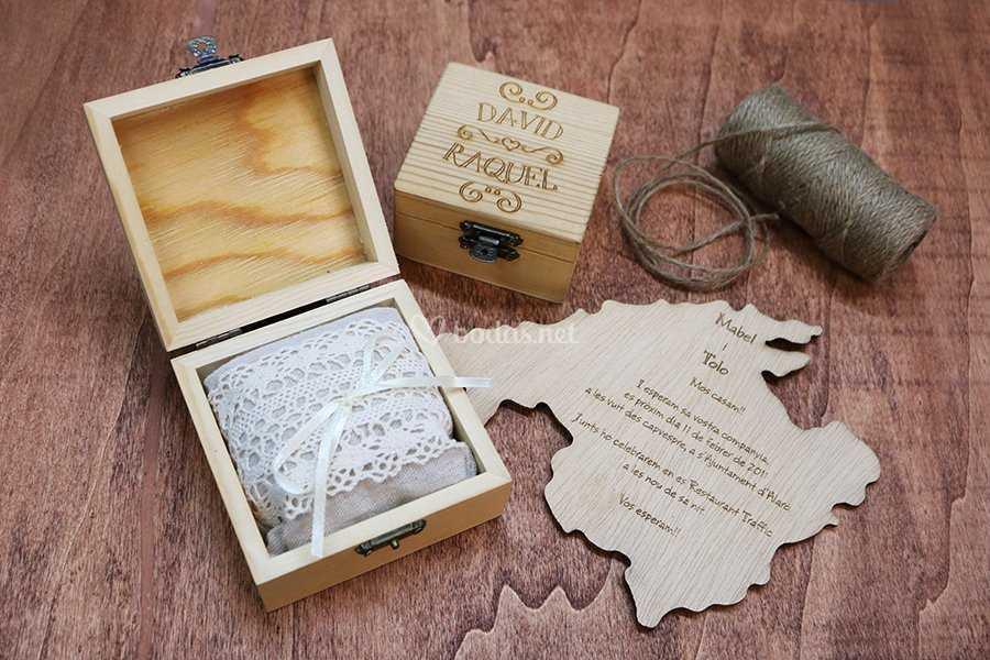 Cajitas anillos personalizadas