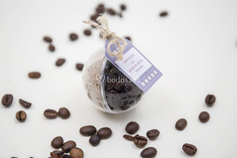 Cappuccino granos de café