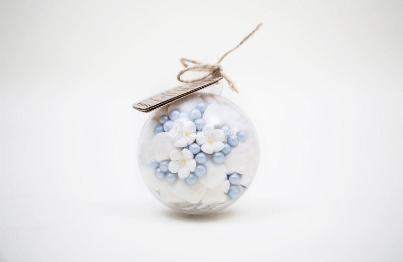 Perlas con Flores de Azúcar
