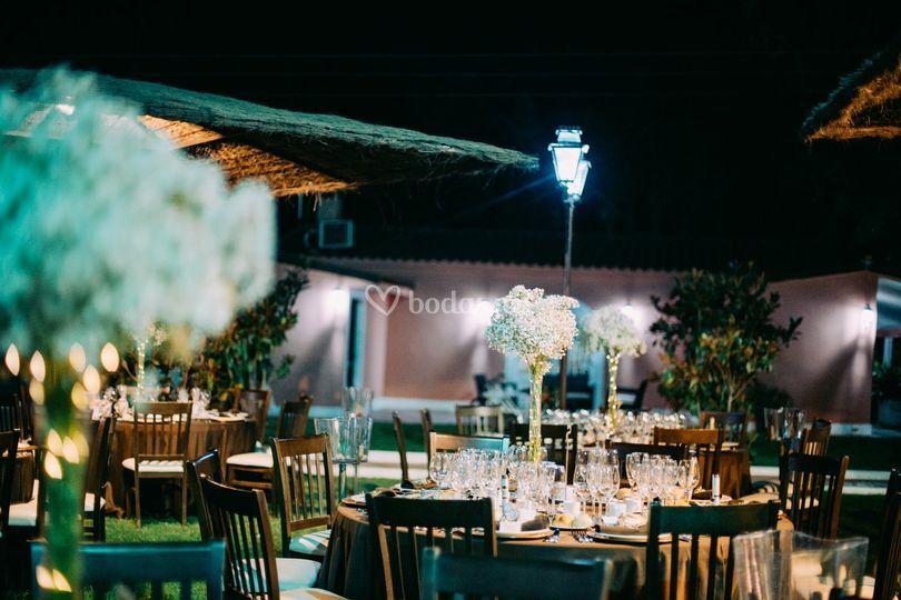 Ejemplo banquete exterior