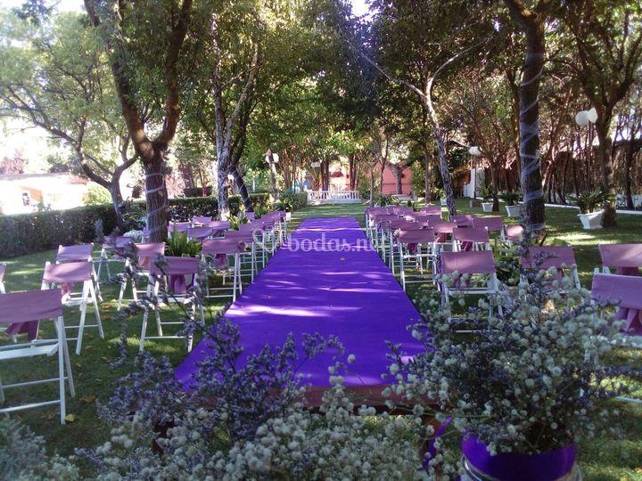 Jardín para la ceremonia