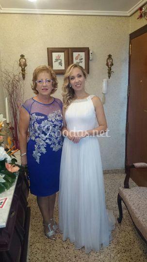 Vestido de novia y de madre