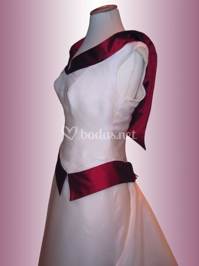 Vestido de novia bicolor