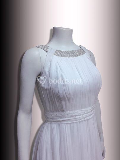 Vestido de novia drapeado