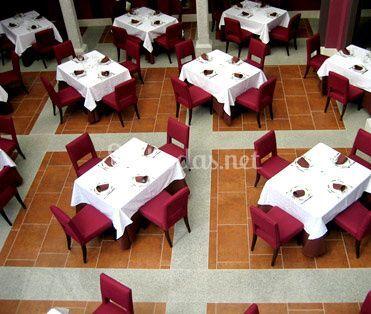 Patio comedor en el Hotel Las Cabañas