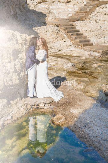 Post boda en entorno natural