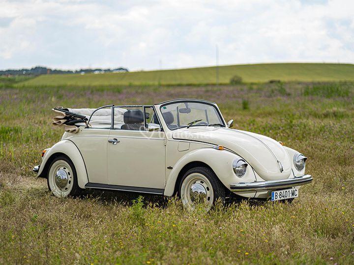 Vw escarabajo cabrio blanco