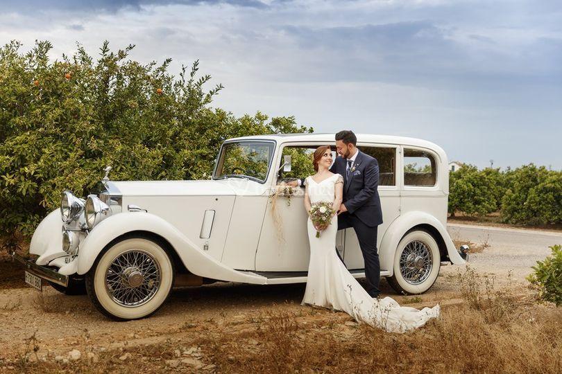 El coche de boda