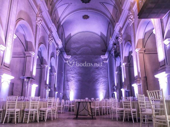 Iluminación Monasterio Cotalba