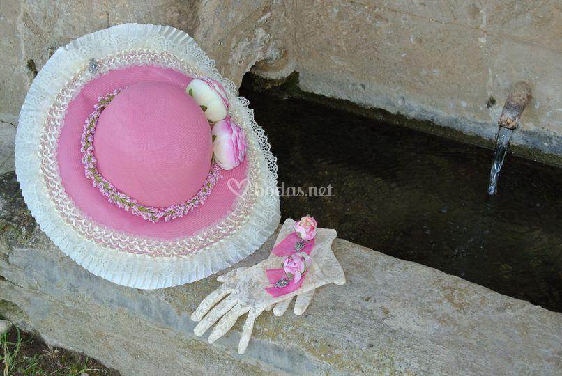 Sombrero y guantes Mónaco