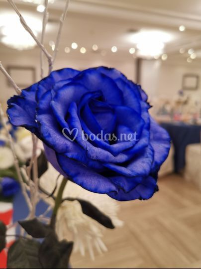 Decoración con flor natural