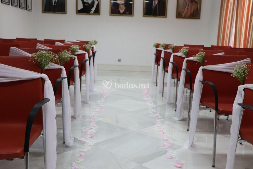 Ceremonia salón de plenos