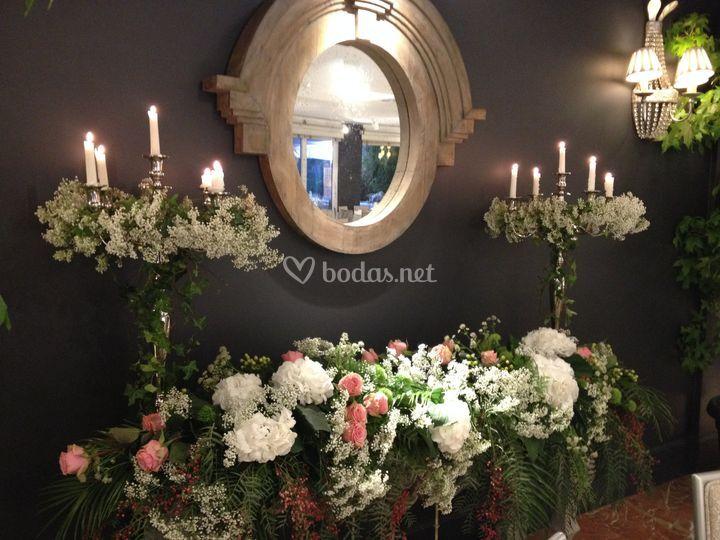 Deco floral barroca