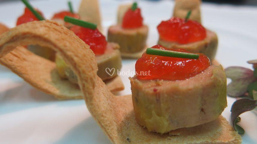 Foie con mermelada tomate