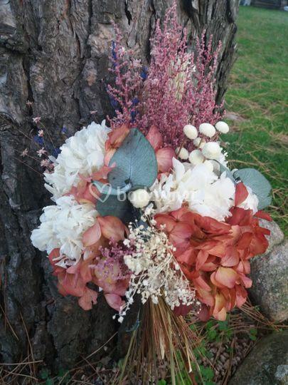 Ramo de novia flores preservad