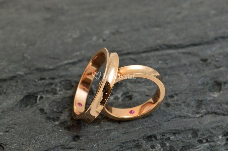 Oro rosa con surco