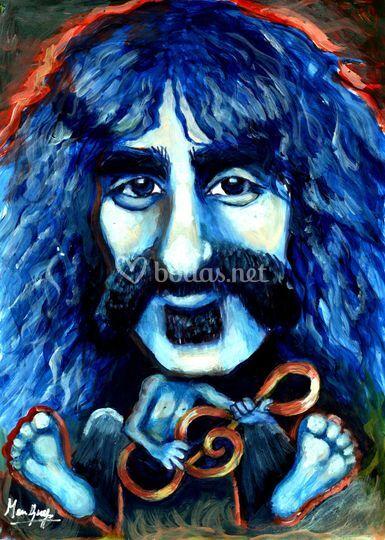 Caricatura Frank Zappa