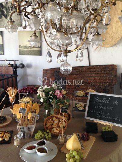 Buffet quesos promoción de Alquería El Machistre