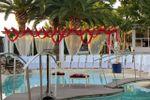 Ceremonia sobre la piscina de Finca El Portazo