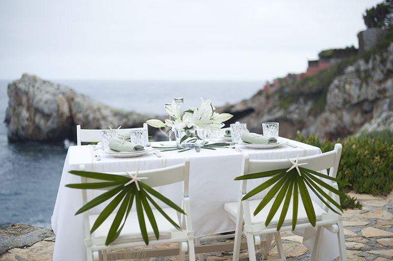Decoración mesa invitados