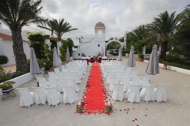 Montaje de bodas civiles