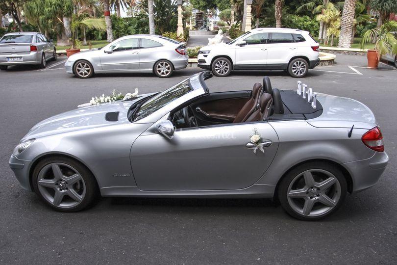 El coche preparado para la salida