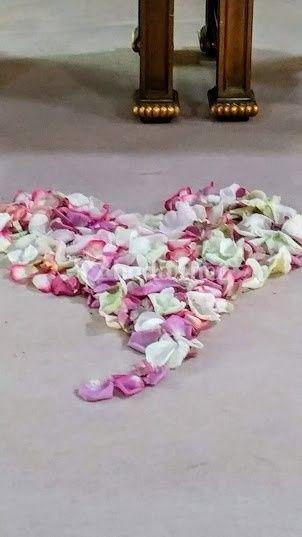 Corazón de pétalos