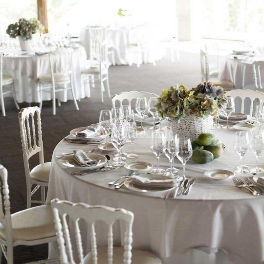 Decoraciones de las mesas