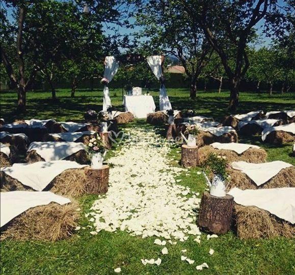Ceremonia con Fardos