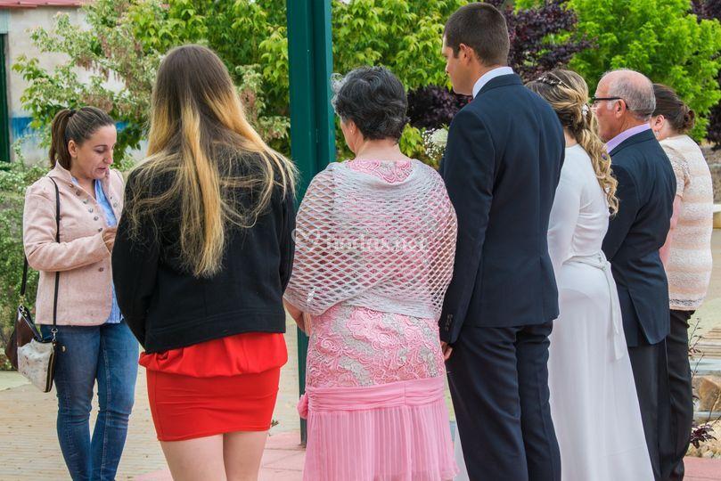 Espaldas de ceremonia