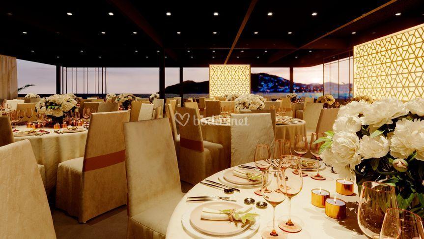 Salón de banquetes en azotea