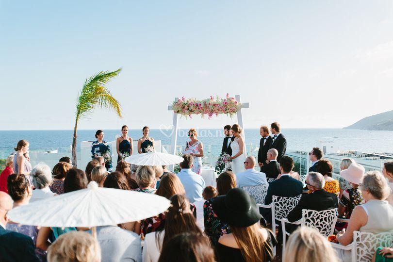 Ceremonia en Rooftop
