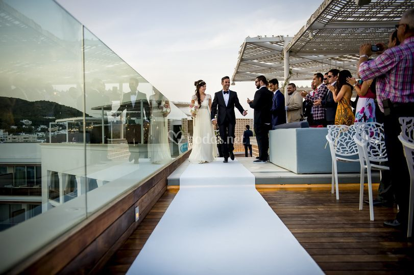 Ceremonia en Roof Terrace