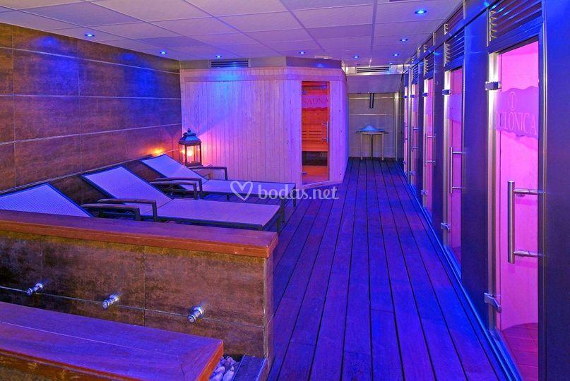 Spa, baño turco, sauna y relax
