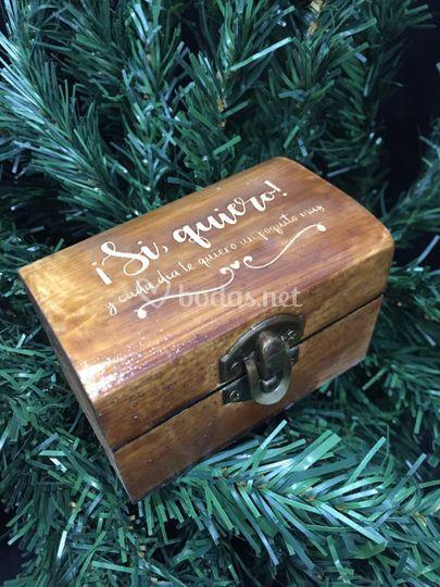Caja madera para evento/boda