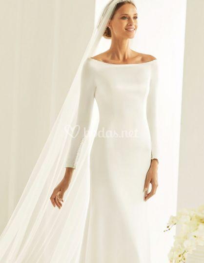 vestido novia crepe de vega novias | foto 39