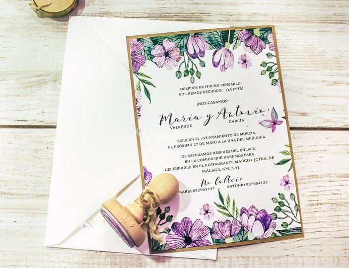 Invitación de boda Mariposas